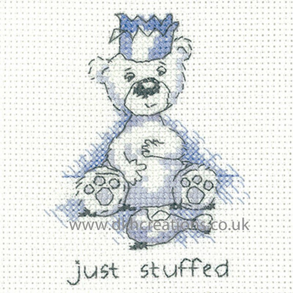 Peter Underhill Justin Just Stuffed  Christmas Greeting Card Cross Stitch Kit